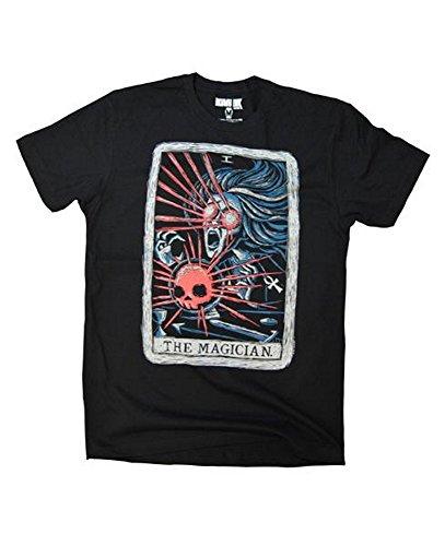 Akumu Ink Herren Premium Tattoo T-Shirt - The Magician (Schwarz) (S-L) (M) (Deluxe Cap Skull)