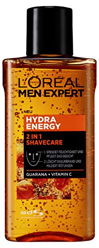 L\'Oréal Men Expert Hydra Energy 2-in-1 Shavecare Gesichtspflege mit Guarana, 125 ml