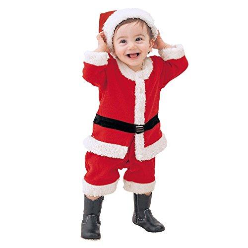 De feuilles Kinder Weihanchtskostüm Kleinkind Weihnachtsmann Santa Kostüm Set Kleidung Weihnachtskleid Weihnachtsmütze Mädchen Jungen Karneval Party Verkleidung (90, Jungen)