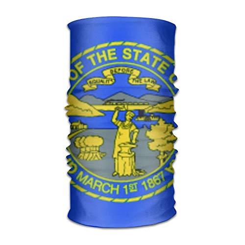 Pengyong Nebraska Flags Unisex Fashion schnelltrocknend Mikrofaser Kopfschmuck Outdoor Magic Schal Halstuch mit Kapuze Superweicher Griff -