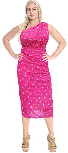 coprire sarong donne costume da bagno del beachwear di bagno involucro di costumi da bagno costume da Pareo gonna Rosa scuro