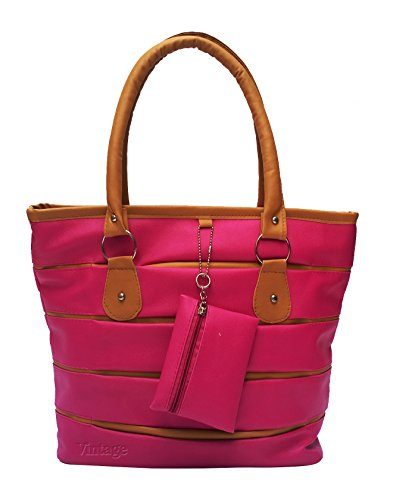 Vintage Women's Handbag(Pink,Bag 131)  available at amazon for Rs.455