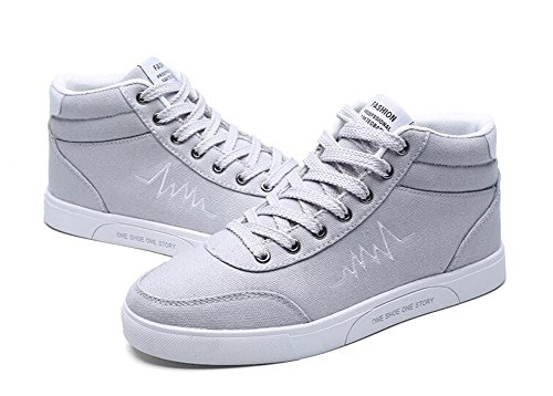 Scarpe da skateboard traspiranti ad alte scarpe da uomo 2017 Scarpe da ginnastica leggera in autunno 39-44 Gray