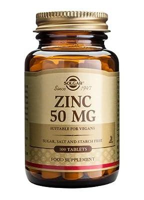 Solgar Zinc 50 Mg Tablets, 100 by Solgar