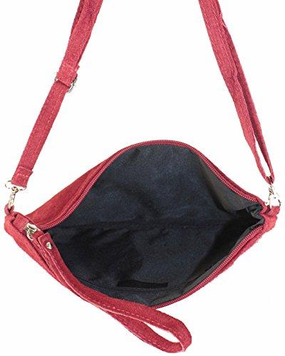 histoireDaccessoires - Pochette Pelle Donna - PO095221L-Othello Rosso scuro
