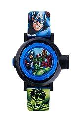 Idea Regalo - Avengers bambini orologio digitale con display digitale multicolore e cinturino in similpelle blu AVG3536