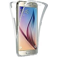 Vahalla Accesorios Funda Doble 360 Delantera y Trasera Gel Transparente para Samsung Galaxy S6 Ultra Fina - Silicona TPU - Alta Resistencia