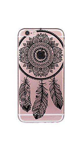Orientalische Holz-bildschirm (iPhone 8/7 TPU Hülle Disney Traumfänger Case transparent klare Schutzhülle Disney Indianer Träume Dream Catcher Hülle iphone7 Tasche Case (iPhone7/8, henna))