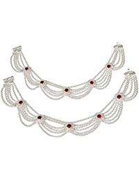 3006395338c Authentic Fancy Silver Anklets (Payal) for Women - GPGU06