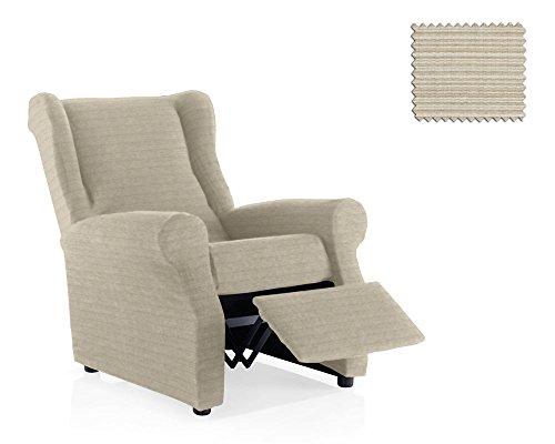 JM Textil Housse fauteuil relax Moraig Taille 1 place (Estándar), Couleur Ivoire (plusieurs Couleures disponibles)