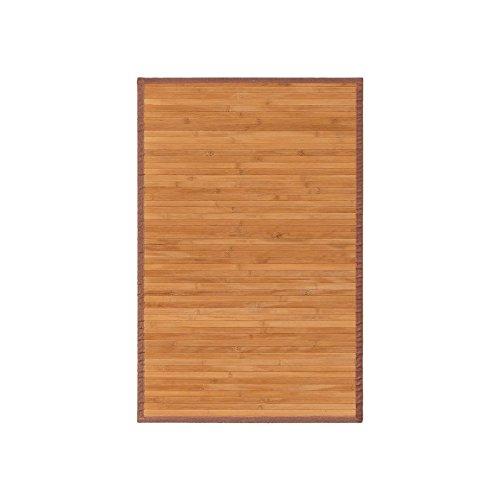 dcasa - Alfombra pasillera oriental marrón de bambú natural de 60 x 90 cm Sol Naciente