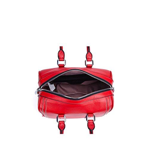 Yvonnelee Hochwertige Echtes Leder Tote Handtasche Henkeltasche Tasche Schultertasche Damen Rote