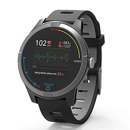 PRIXTON – Reloj Inteligente Smartwatch para Android e iOS con Electrocardiograma, Presión en Sangre, Pulsometro, Resistente a Salpicaduras, Pulsera de Actividad para Hombre y Mujer   SWB28