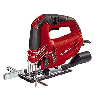 Einhell TH-JS 85 – Caladora electrónica pendular con hoja de sierra para madera y maletín, 620 W, 230 V, color rojo y negro