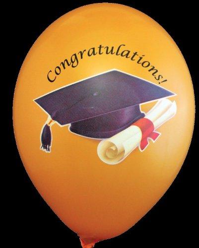 Preisvergleich Produktbild 2 X Party Luftballons Master Bachelor Doktorhut ca. 30 cm BUNT farbig sortiert verpackt 8 Stück