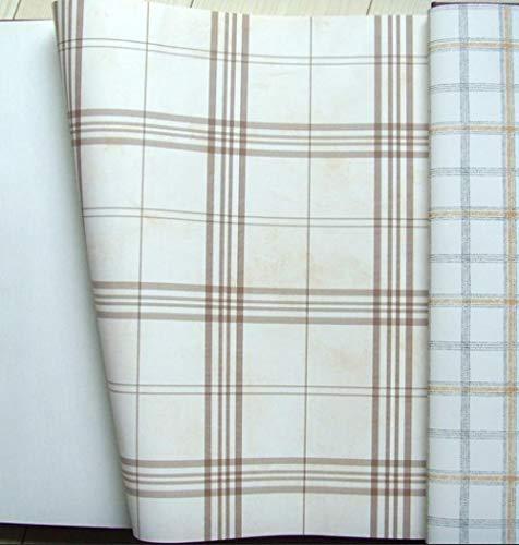 Tapete im nordischen Stil Schlichte schwarz-weiße Karotapete Amerikanische Land Khaki hellblaue Karotapete Nur helles Khaki_Wallpaper
