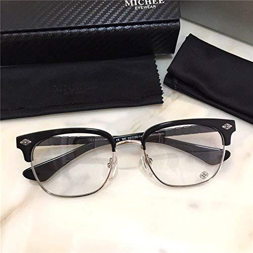 SCJ Die Literatur belebt Alten Bräuchen einen Brillenrahmen, der zusammen mit großflächigen Plankenmaterial-Halbrahmengläsern der Brille für kurzsichtige Männer und Frauen zur Flut passt
