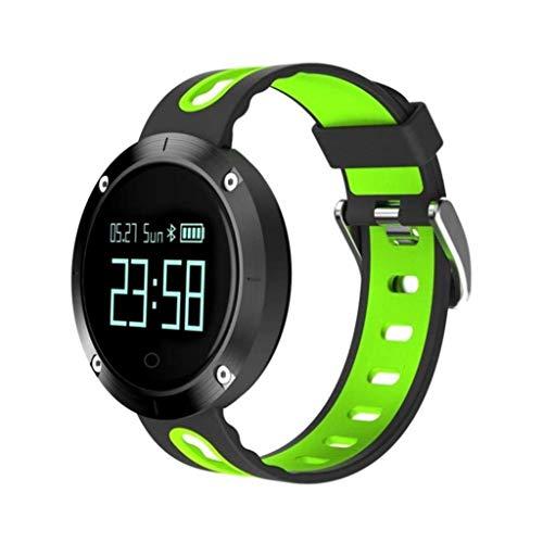 CS-LJ Fitness Tracker Activité Tracker OLED Écran Couleur Bracelet Test de Fréquence Cardiaque IP67 Bracelet de Sport Étanche (Taille : Green)