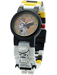 LEGO Star Wars Stormtrooper minifigurine-lien - 9004339 - Montre Enfant - Quartz Analogique - Bracelet Plastique Multicolore