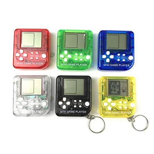 SMALLJUN Transparent Mini Tetris Spielmaschine Schlüsselbund Kapselmaschine Schwarz und Weiß...