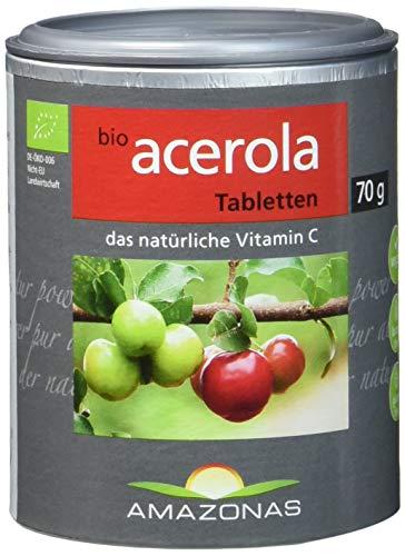 Amazonas Naturprodukte Bio Acerola Lutschtabletten Mit Natürlichem Vitamin C, 120 Stück -