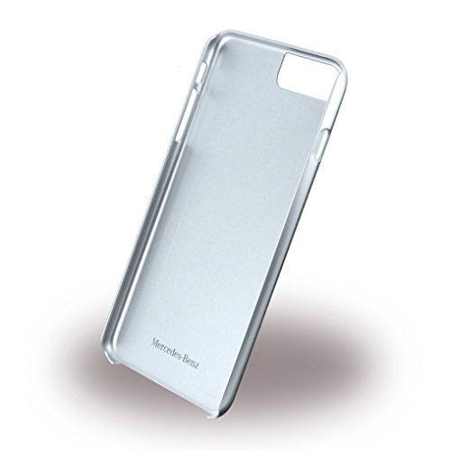 Mercedes MEHCP7LCUSGR Echtleder Gebürstetes Aluminium Hart Schutzhülle für Apple iPhone 7 Plus kristall grau rot