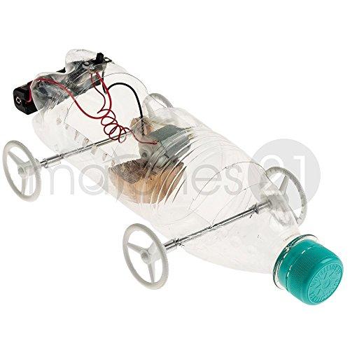 matches21 Recyclingcar Auto mit Riemenantrieb als Bausatz zum Zusammenbauen für Kinder ab 10 Jahren