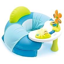 Smoby 110210 - Cotoons Baby Sitz mit Activity Tisch, blau