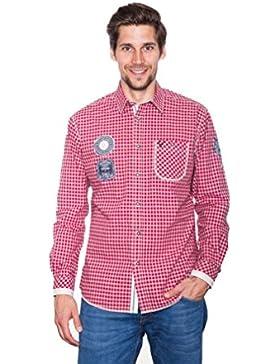 Michaelax-Fashion-Trade Krüger - Herren Trachtenhemd in Rot, Bergbursche (92108-9)