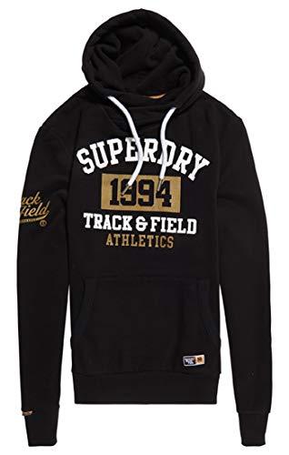 Superdry Herren Pullover 1994 Metallic Hood, Schwarz (Black 02a), Medium