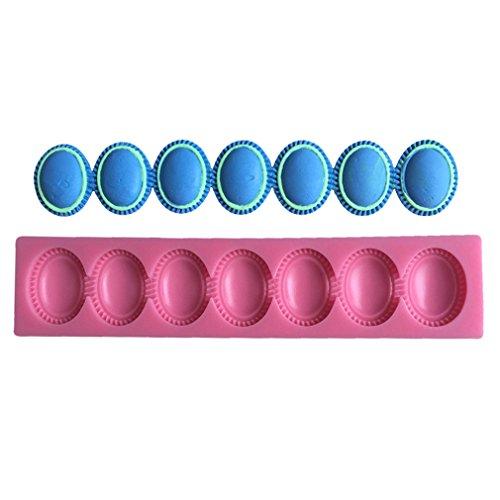 LYNCH Collier Perles Silicone Moules 3D Bakeware Décoration de gâteaux Fondant Moule à savon rose