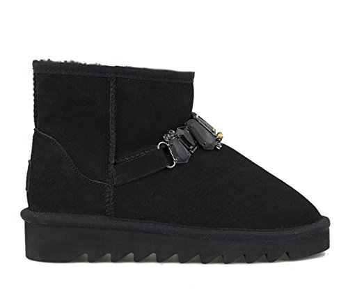 COLORS OF CALIFORNIA STIVALE WINTER BOOTS CON ACCESSORI UGG 18-F16 NERO MIS.38