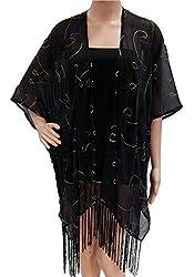 URBAN TRENDZ 2694 Polyester Kimono topper