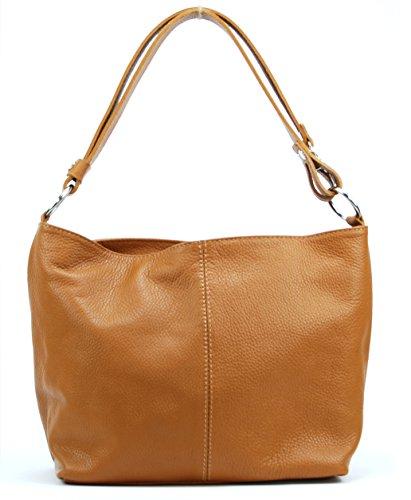OH MY BAG Handtasche aus leder, damen, schultertaschen und umhängetaschen Modell KUTA Cognac