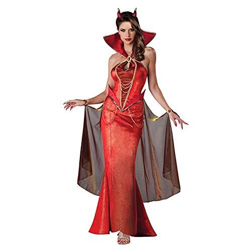 HYMZP Kostüm Damen, Halloween Adult Sexy Neckholder Kleid Cosplay Cleopatra Königin Kostüm Mit Umhang, Bühnenspiel Darstellerin Teufelin Kostüm,XL (Sexy Krankenschwester Neckholder Kleid Kostüm)