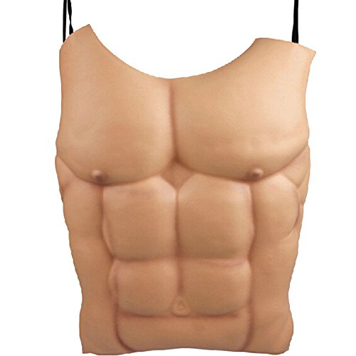 dealglad® New Fancy Funny EVA-Schaum Halloween-Kostüm Party Cosplay Requisiten Macho Herren Fake Brust Muskel Bauch Muscle Haut