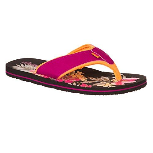 Animal Swish Placement Women's Flip Flops - Indian Blue-UK 8