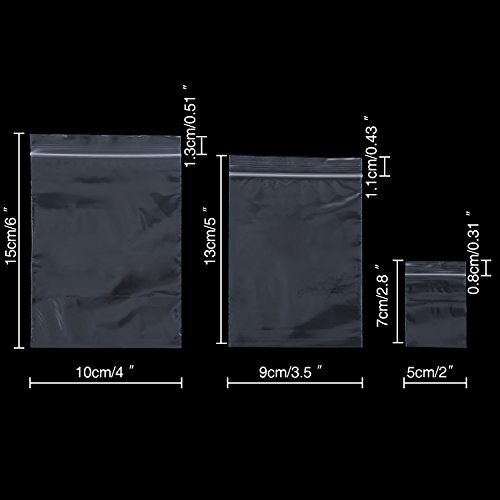 150 Piezas de Bolsa con Cierre Bolsa Resellable de Plástico Bolsa de Polipropileno Transparente, 2 x 2,8 Pulgadas, 3,5 x 5 Pulgadas, 4 x 6 Pulgadas
