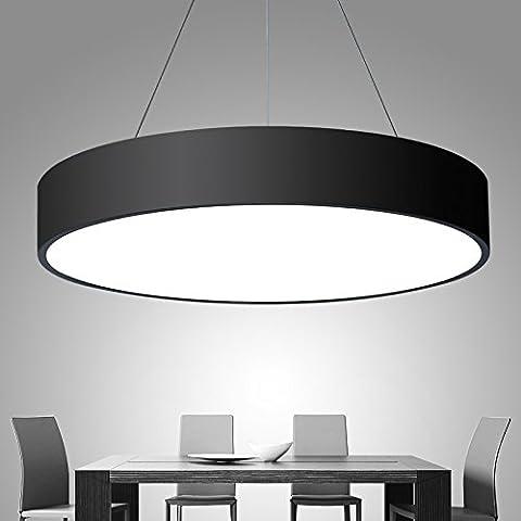 Sdkky-round lampe LED Chambre à coucher Salon lampe Aluminium lampe Diamètre Pendentif simple Lustre Restaurant 250/400/600/780mm 75mm