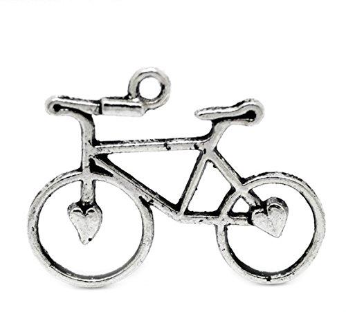 housweety-30-antiksilber-fahrrad-perlen-beads-anhaenger-31x23mm