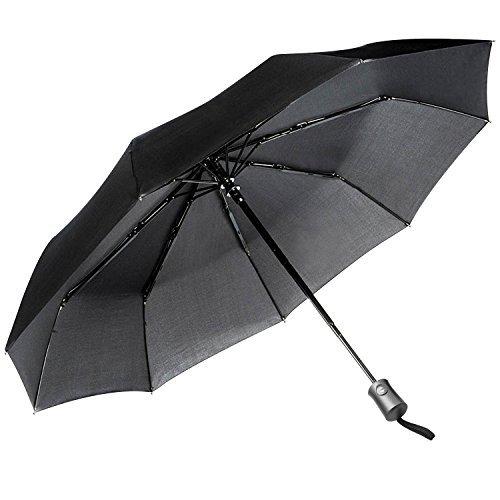 JEOutdoors Paraguas Plegable Automático Portátil 10 costillas defender del viento automáticamente cerrar y abrir con recubrimiento de teflón fácil llevar para viaje