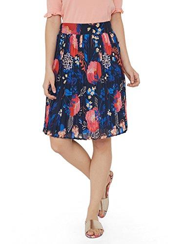 Chumbak Blossom Owl Multi A-Line Skirt
