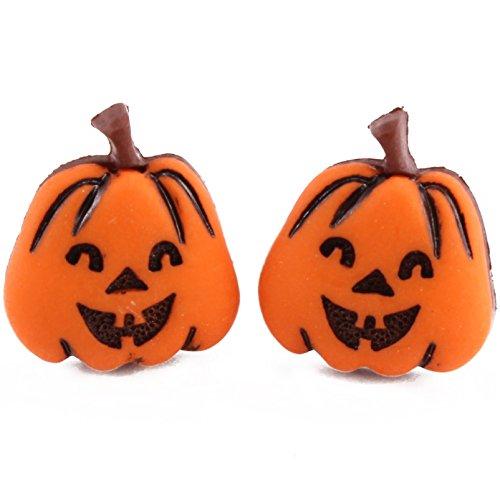 TFB-Happy Halloween Evil Kürbis Gesicht Ohrstecker