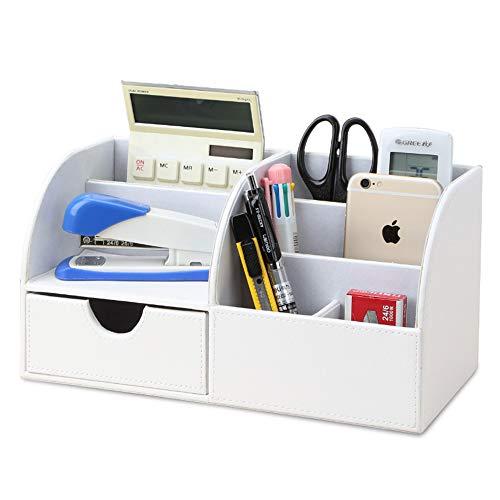 KINGFOM Portaoggetti da scrivania ufficio (Bianco)