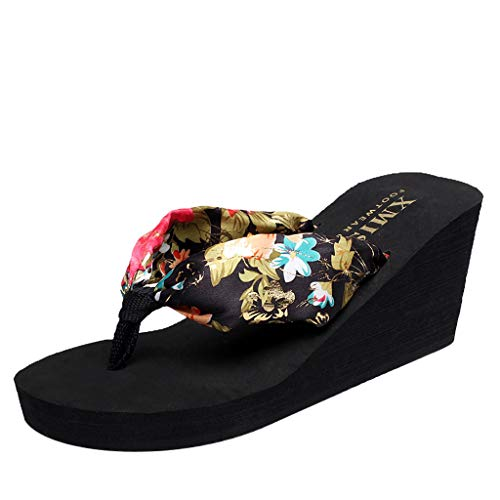 Boemia Infradito,Robemon Moda Spiaggia Ciabatte Donne Anti Scivolo Inviare Stampare Pantofola