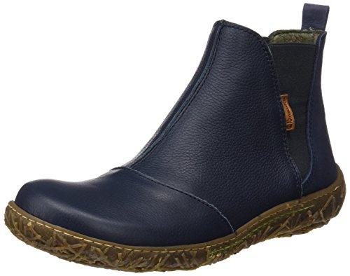 El Naturalista Damen N786 Soft Grain-Pleasant Nido Chelsea Boots, Blau (Ocean), 38 EU (Leder Soft Booties)