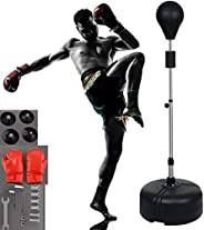 Boxing Ball Set Punching Ball All-in-one Boxing Solid EVA Foam Punching Ball with Adjustable Height Stand That