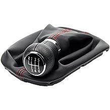 L&P Car Design GmbH 257-3 Funda para Palanca de Cambio con Costura Roja con Pomo y Marco