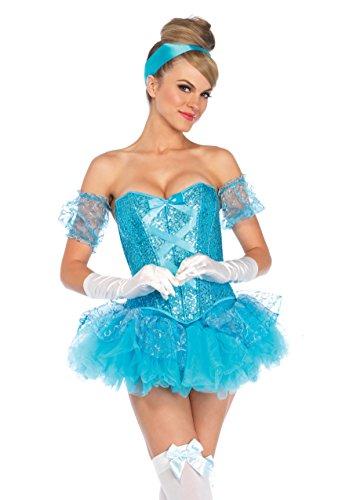 inderella Kostüm, Größe M, aqua (Cinderella Halloween-kostüme)