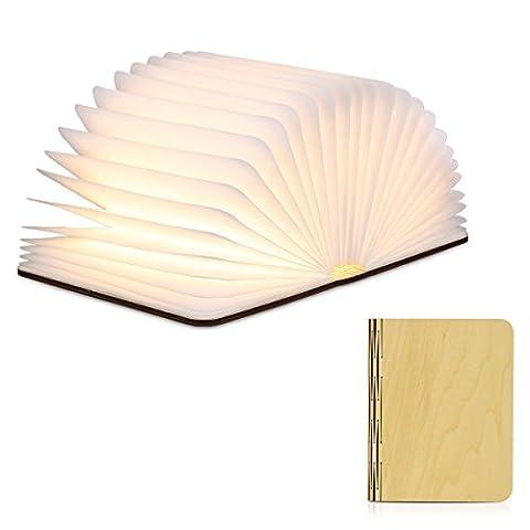 Excelvan - LED Buchlampe Tischlampe (Warm Weiß, Faltbar, LED Buchlicht2500mAh,
